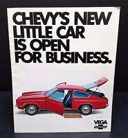 Vintage Chevrolet Car Automobile Brochure Catalog 1971 GM Vega Coupe Sedan Wagon