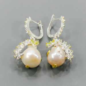 One of a kind Pearl Earrings Silver 925 Sterling   /E57762