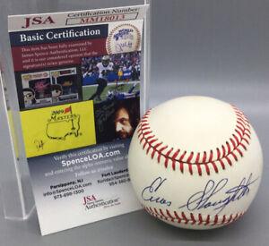 Enos Slaughter Autographed National League Baseball - JSA Certified