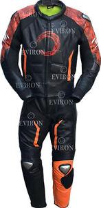 Black Eviron Motorcycle Leather Suit 2 Piece & 1 Piece New design