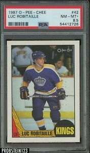 1987 O-Pee-Chee OPC Hockey #42 Luc Robitaille Los Angeles Kings PSA 8.5 NM-MT+