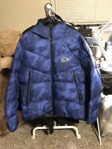 Nike NSW Down-Fill Wind-runner Jacket CU4406 492 Blue New Men's Size L