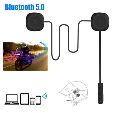 Rechargeable Motorcycle Helmet Headset Speaker Mic Bluetooth 5.0 Handsfree Music