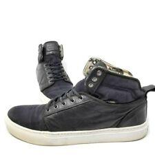 Vans Alomar + (Fish Bones) Black White Leather Canvas Skateboard Shoes mens 11.5