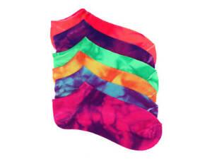 Mix No 6. Women's No Show Tie Dye Women's No Show Socks - 6 Pack -  - NEW