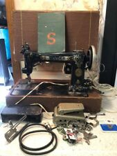 Super RARE 9w SINGER SEWING MACHINE w/PEDAL, Manual, CASE & Extras 1905-1912