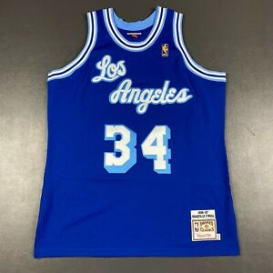 100% Authentic Shaquille O'Neal Mitchell Ness 96 97 Lakers HWC Jersey Size 48 XL