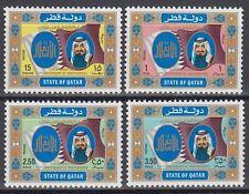 Qatar 1984 ** Mi.867/70 Unabhängigkeit Independence Flagge Flag Scheich Sheikh