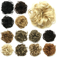Girls Women Elastic Wig Hair Ring Curly Scrunchie Bun Chignon Ponytail Hairpiece