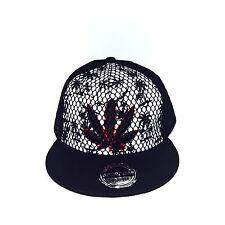 Weed Smoking Mesh Leaf Life Hip-Hop Adjustable Unisex Baseball Hat Snapback Cap