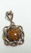 POLAND Sterling AMBER Pendant