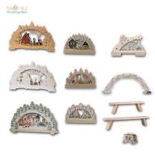 LED Arches, Arc Lumineux, Holz-Fensterleuchter, Leds Blanc Chaud, Noël