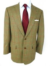 Paul Stuart Men's Sport Coat US 42EL Brown Wool Red Window Pane 2-Button Vent