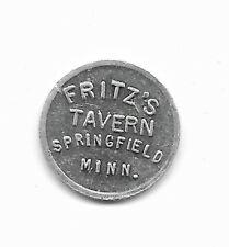 SPRINGFIELD MINNESOTA  ALum FRITZ'S TAVERN / GOOD FOR 5c TRADE TOKEN