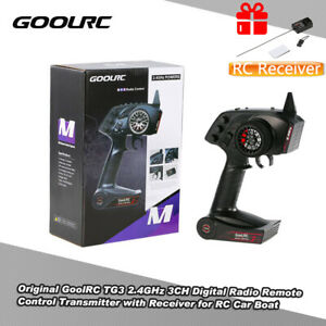 UK GoolRC TG3 2.4GHz 3 Channels Control Transmitter&TG3 Receiver for RC Car Boat