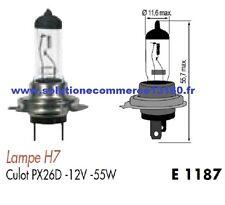 LOT 2 LAMPE HALOGENE H7 12V 12 VOLTS 55W CULOT PX26D AMPOULE PHARE PROJECTEUR
