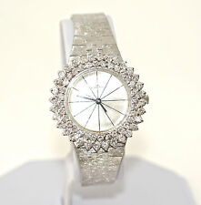 Fortis Solid 18k Gold 2.08ct VS-SI/G-H Diamond Vintage Lady's Wrist Watch 1.5OZ
