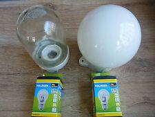 2 Sets DDR Glaskolbenlampe Hoflampe Kellerlampe-Keramiksockel +2 x Leuchtmittel