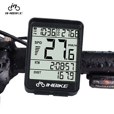Bicycle Wireless Digital Computer Bike Cycle Computer Odometer Speedometer Black