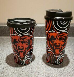 LOT of 2 Chicago Bears 16 oz Insulated Stadium Coffee Mugs / Tumbler