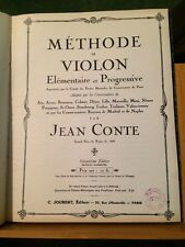 Jean Conte Méthode de violon partition éditions Joubert