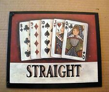 STRAIGHT  Casino Bingo Bar chips Slots cards Blackjack Keno Gambling Poker SIGN