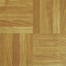 50 VINYL FLOORING TILES Light Plain Wooden Floor Effect SELF-ADHESIVE HOME SHOP