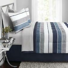 Stripe 8 pc Bed in a Bag Set with Sheets, Multiple Sizes - Comforters