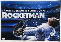 Taron Egerton Rocketman Elton John Autograph JSA 12 x 18 Signed Photo