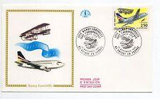 FRANCE Vol NANCY LUNEVILLE Aviation 80éme anniversaire 1992 Enveloppe 1er jour