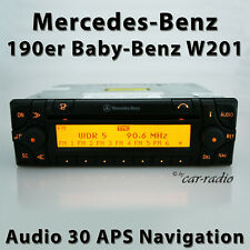 Original Mercedes Audio 30 APS Navigationssystem 190er Radio Baby Benz W201 Navi