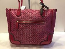 NWT Coach 26414  Poppy Signature Metallic Outline Small Tote Magenta $179