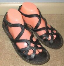 Excellent Women's Size 9 BORN JILLY Black Leather Metal Stud Gladiator Sandals