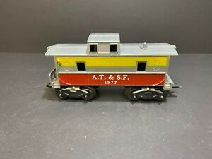 VINTAGE  Marx Trains AT&SF 1977 Tri Color Caboose.