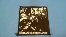 RARE Uniform Choice Sew On Patch Youth of Today Minor Threat Gorilla Biscuits