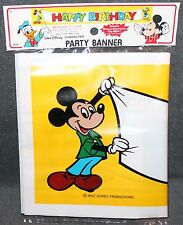 Vintage Walt Disney'S Mickey Mouse Party Banner By Carrousel Products