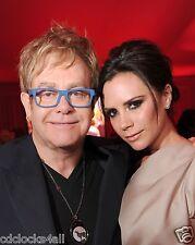 Elton John & Victoria Beckham 8 x 10 GLOSSY Photo Picture