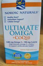 Nordic Naturals Ultimate Omega + CoQ10 1000mg 60 Softgels Exp 8/2022