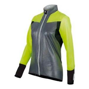 Velo Ladies CYCLING Wind JACKET - in Grey/ Yellow - Made it Italy by Santini S