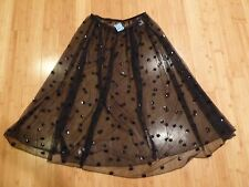 NWT FREE PEOPLE INTIMATELY SLIP SKIRT BLACK WITH SEQUINS SZ. M