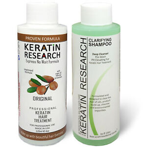 Brazilian complex hair Keratin Blowout Treatment 120ml with Clarifying Shampoo