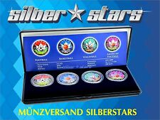 4 x 1 OZ Silber Silver Maple Leaf  2016 Color Sportball Edition in box + CoA