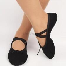 Child Adult Canvas Ballet Dance Shoes Slippers Pointe Dance Gymnastics