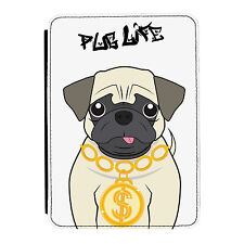 Pug Life Gangster Dog Animal Funny iPad Mini 1 2 3 PU Leather Flip Case Cover