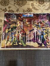 Vintage 1984 Mattel MASTERS OF THE UNIVERSE Poster 32x23 He-Man ORIGINAL