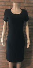 Liz Claiborne Dress Black Knee Length Size M Beaded Neckline