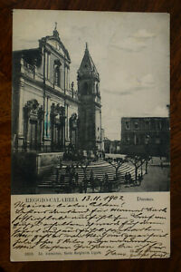 Ak Reggio Calabria - Duomo, 1902 gelaufen