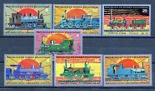 Republica de Guinea Ecuatorial  año 1972   trenes  sellos nuevos
