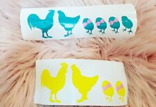 Chicken family car decals! Many color options!