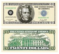 Pack of 100 - $20.00 Casino Party Money